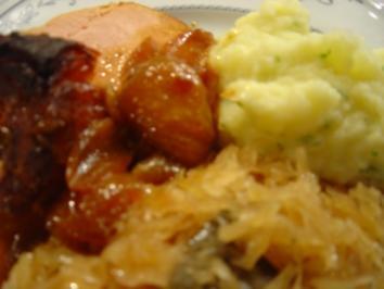 Schmor-Sauerkraut z. B. für Backschinken... - Rezept