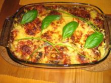 Gulasch mit Gnocchi gratiniert - Rezept