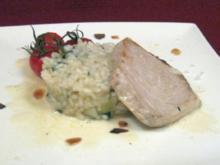 Schwertfisch mit Basilikumrisotto - Rezept
