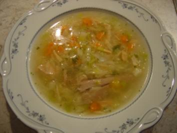 Hühnersuppe.... ratz-fatz, gluten- und laktosefrei... mit Bildern - Rezept