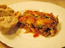Geschichtete Ofen-Ratatouille mit Hack - Rezept