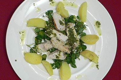 Limonen-Minze-Hähnchenbrustfilets auf Brunnenkresse mit Babykartoffeln - Rezept - Bild Nr. 9