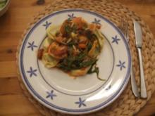 Spinat-Ricotta Tortellini mit fruchtiger Gemüsesauce - Rezept