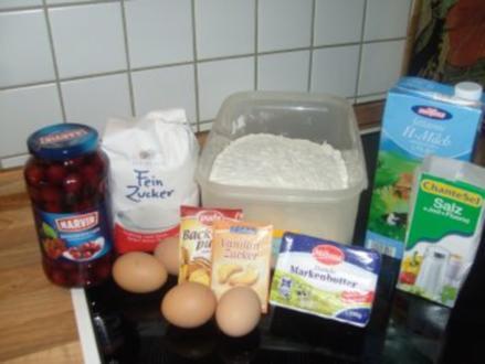 Versunkener Kirschkuchen - Rezept