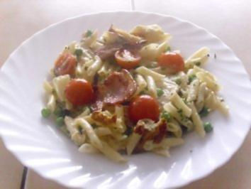 Rezept: Nudel--Gorgonzola-Pfanne