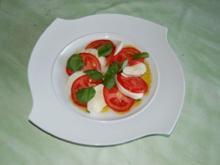 Vorspeise  Tomate-Mozzarela mit Basilikum - Rezept