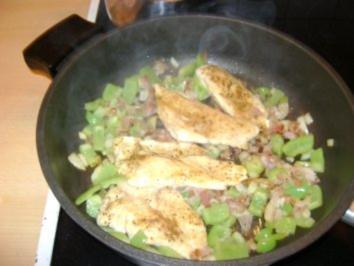 Hühnerschnitzerl mit Paprikagemüse - Rezept