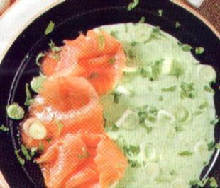 antipasti puree di piselli e salmone - Rezept
