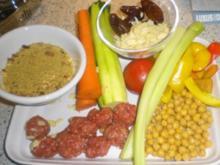 Couscous mit Gemüse und Lammklößchen - Rezept