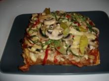 Bunte Pizza - Rezept
