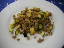 Zucchini- Hackfleisch-Pfanne - Rezept