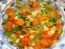 Gemüsesuppe aus Hühnerbrühe .... - Rezept