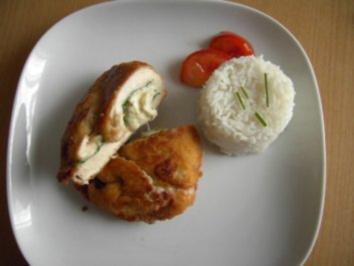 Hühnerschnitzel gefüllt mit Mangold und Mozzarella - Rezept