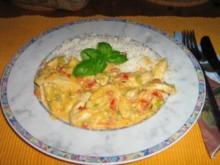 Hähnchengeschnetzeltes mit Tomaten-Gorgonzola-Sauce - Rezept