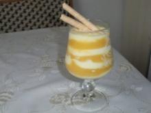 Schicht-Speise mit Aprikosenpüree - Rezept