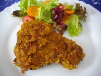 Putenschnitzel mit Cornflakes-Panade - Rezept