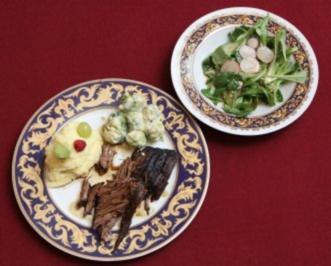 Mamas Rinderbraten mit Salat (Bert Wollersheim) - Rezept