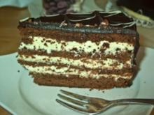 Schoko Vanille Creme Torte - Rezept
