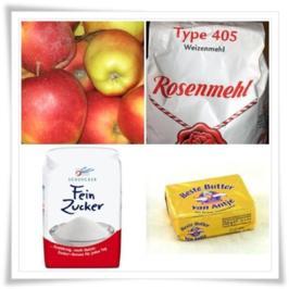 Apfel-Kuchen mit Guss - Rezept