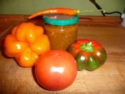 Tomaten-Paprika Pesto mit Parmesan - Rezept