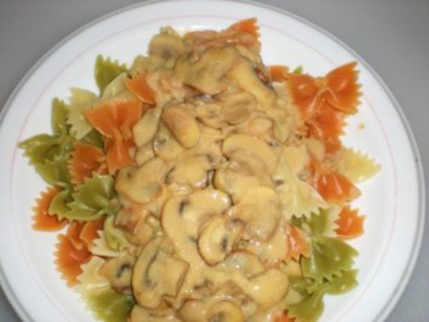 NUDELN: Champignon-Gorgonzola-Pasta - Rezept