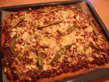 Gehacktespizza - Rezept