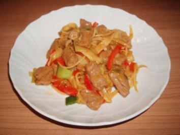 Rindfleisch-Nudel-Pfanne - Rezept