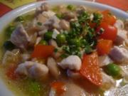 Hühner-Reis-Champignon-Suppe - Rezept