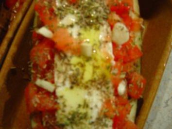 Auberginen gefüllt mit Schafskäse... mit Bildern - Rezept