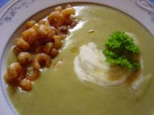 Rosenkohl-Creme-Suppe mit Garnelen a la Anne... - Rezept