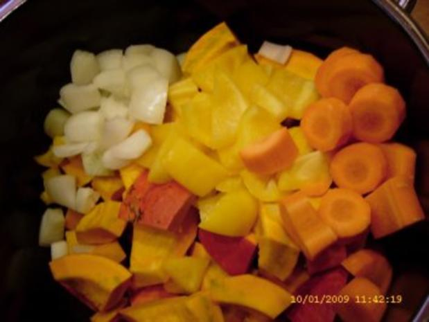 Hokkaido - Kürbis - Suppe - Rezept - Bild Nr. 4