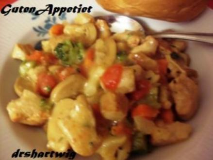 Pfannengericht~Puten -Champigon-Pfanne - Rezept