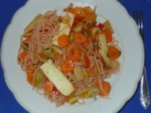 Vegetarisches - Asia-Pfanne mit europäischem Einfluss ;-) - Rezept