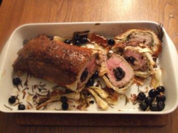 Rezept: Gefülltes Schweinefilet im Mantel