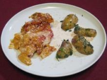Aprikosen-Hähnchen in Tomaten-Sahne mit Kräuterkartoffeln - Rezept