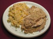Pute Encacahuatado und Reis a la Mexicana - Rezept