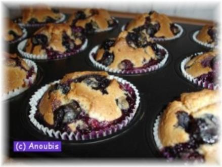 Kuchen/Gebäck - Dooley's Muffins mit Heidelbeeren - Rezept