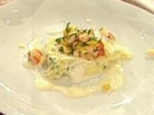 Kalt-Warmes von Garnelen, Stockfisch und Kartoffeln a la Henssler - Rezept