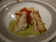 Fisch - Lumb an Avocado Coulis und Zitronengrasrisotto - Rezept