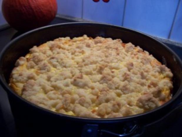 Streuselkuchen mit Äpfeln und Quark - Rezept