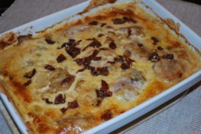 Schweinefilet auf Fenchel-Gorgonzola-Gemüse - Rezept