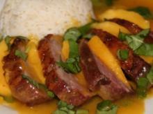 Entenbrust mit Mango-Basilikum-Soße - Rezept