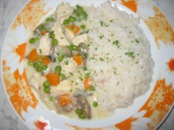 Hühnerfrikassee-Einfach und schnell - Rezept