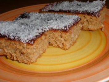 Schneller Kokos - Blechkuchen - Rezept