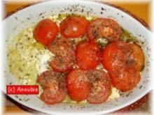 Hauptgericht vegetarisch - Ofen-Tomaten mit Feta - Rezept