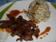 Gebratenes Rindfleisch mit Sojasauce - Rezept
