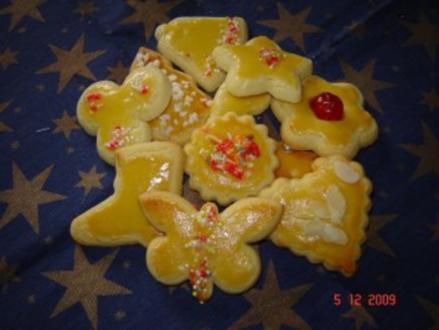 Weihnachtsplätzchen : Buttergebäck - Rezept
