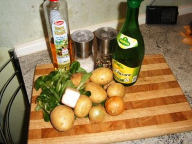 Speck-Zwiebel-Kartoffelsalat mit Rapünzel - Rezept - Bild Nr. 3
