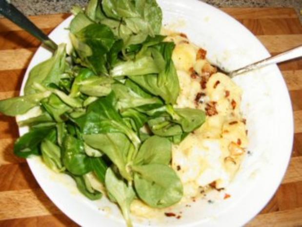 Speck-Zwiebel-Kartoffelsalat mit Rapünzel - Rezept - Bild Nr. 2