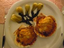 Vieiras al horno (Überbackene Jakobsmuscheln) - Rezept